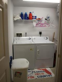 Fully equipped laundry room off of kitchen