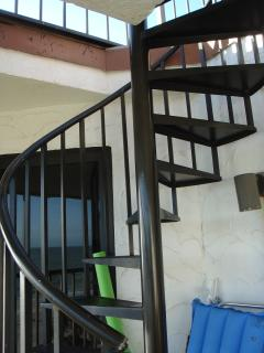 Staircase to Roof top deck