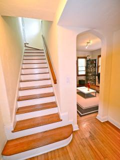 Stairs to 2nd level Master bedroom