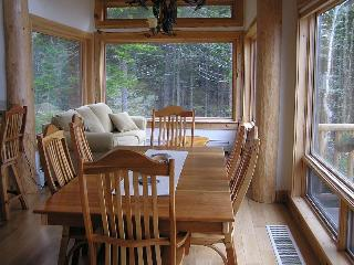 View of Dining Area + Sun Room