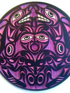 This is Healing Hands, an original spindle whorl carving from Coast Salish artist Joe Wilson.