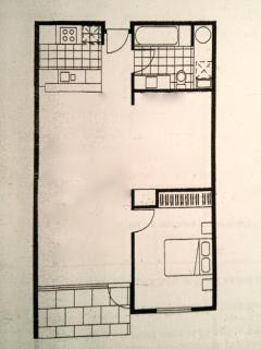 Port Melbourne Serviced Apartment floor plan