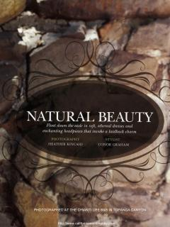 Natural Beauty spread in CWD magazine-Fall/Winter 2012