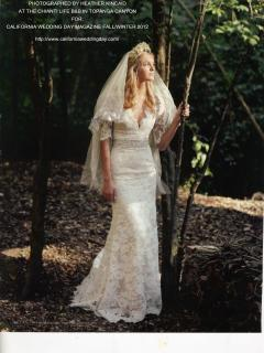 Bride by the next location of our Tipi for Spring 2013!
