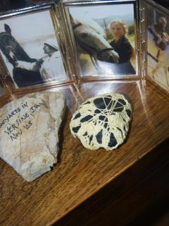 Our special gift -Handmade rock from our beautiful bride Tamara!