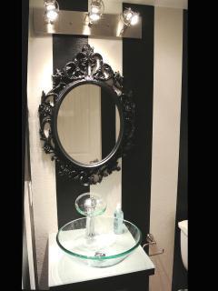 Funky vanity in Ursula's bathroom