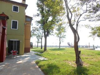 Casa di pescatori sull'isola di Burano, Venezia