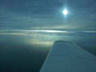 zonsondergang op de Golf op 3500 ft 26 Jan 2014