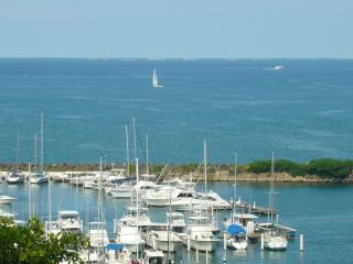 Enjoy the view of Puerto Chico Marina.