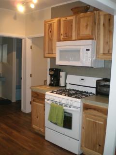 Kitchen--new stove, microwave and dishwasher