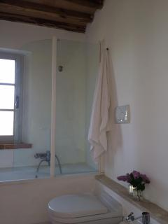 Upstairs Bathroom with tub and shower