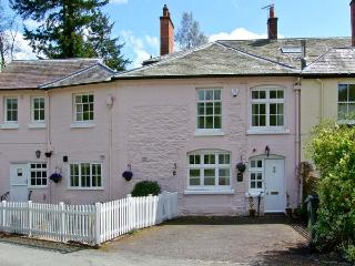 EAST COTTAGE, Grade II listed, en-suite, patio with views towards Long Mynd in C