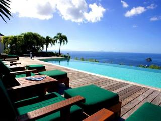 Luxury 5 bedroom St. Barts villa. 270 degrees of ocean and garden views!, Colombier