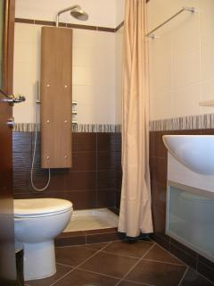 en suite hydromassage column bathroom