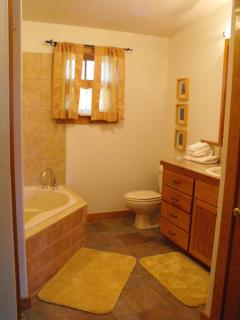 upstairs bath and two person spa tub