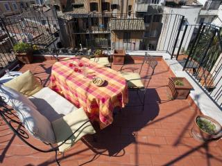 An apartment with a panoramic terrace in Rome's historic district, Roma