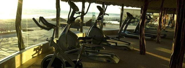 View from gym overlooking the ocean