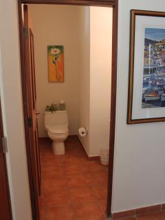 Visitors half bathroom