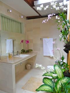Bath 2 ~ The orchid Bathroom Bathe in the private semi out door bathroom