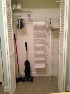 Bedroom closet with  vacuum