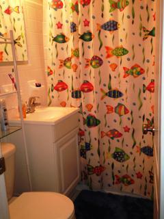 Bathroom with full size tub