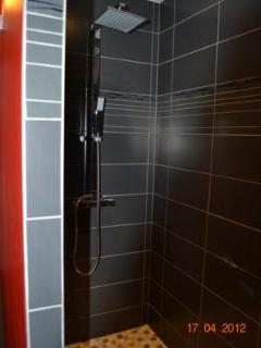Large walk in Italian style shower