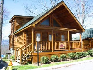 log cabin 2 blocks off parkway with mountain views