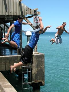 Jump Off The Pier At The Bay