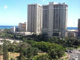View of Hilton Hawaiian Village Resort across the street