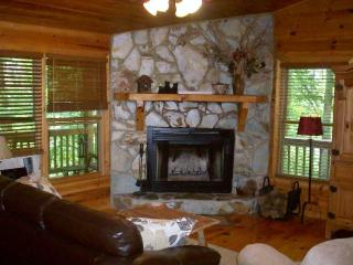 Stone Fireplace/Living Room