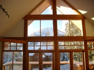 Best view of Red Mountain, framed in the front cathedral windows