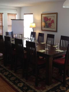 Dining room set up as meeting room