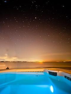 Watch the stars come out from the hot tub
