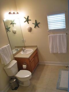 1st floor studio bathroom w/ lg.walk in shower w/ bench