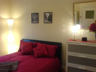 Bedroom 1 - Very spacious, faux leather bed, two double wardrobes, chest of drawers, settee
