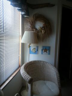 Sunny seat by the window in master