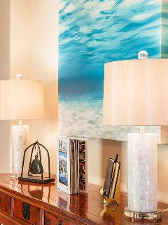 Entry Foyer - Welcome To C201 Castaway Cove. The decor tells a story of sailing around the world in the 19th century...