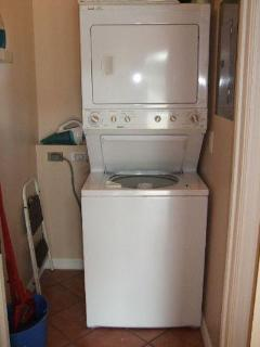 Washer and dryer on first floor