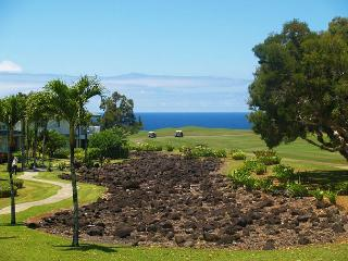 Emmalani Court 524: Spacious, ocean view, air-conditioned, walk to beach., Princeville