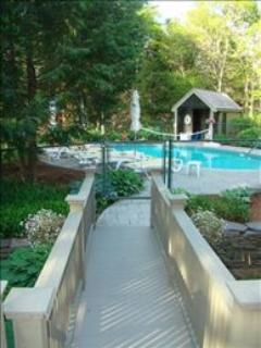 Path connects the main house to the pool