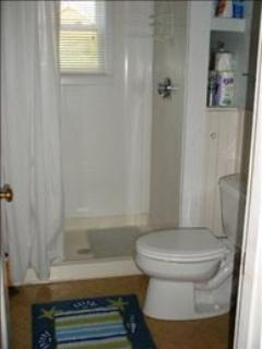 Bathroom has a Walk-In Shower.