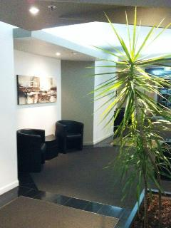 Melbourne CBD Serviced apartment entry area