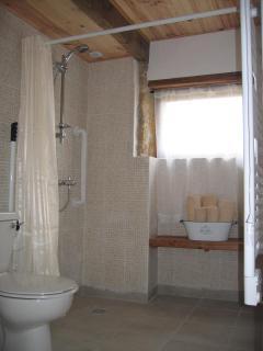 Ground floor en-suite shower bathroom with wheelchair access