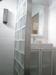 Washbasin next to Shower