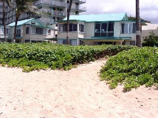 Beach directly in front of cottage