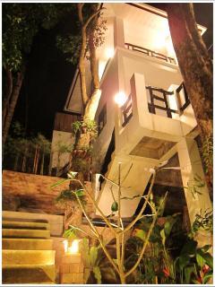 Frangipani Villa in the night