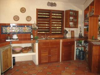 Downstairs kitchen area. Equipped with all necessary cooking utensils.
