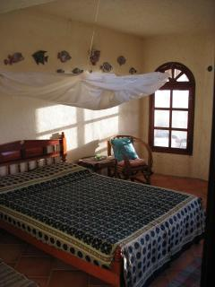 Upstairs bedroom #1. Fresh sea breeze or ceiling fan for comfortable sleep.
