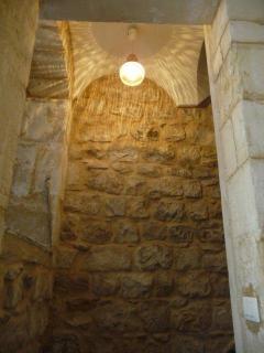 Exposed stone stairway