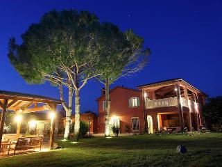 villa in the night